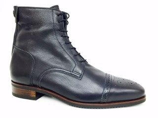 Volonato Blue Ankle Boots with brogue | Image 1