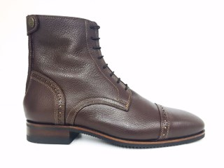 Volonato Brown Ankle Boots with Cognac Stitching | Image 1