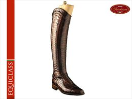 Brown Croc riding boots | Image 1