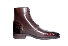 Brown Boot, Patent Toe And Heel | Image 1