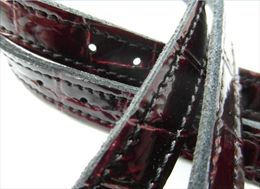 Red Crocodile Spur Straps | Image 1