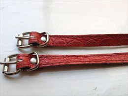 Red matt croc straps | Image 1