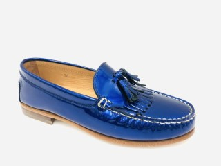Royal Blue Patent Moccassins | Image 1