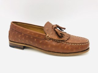 Tan Ostrich Moccassins | Image 1
