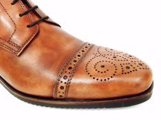 Antique Brown Ankle boots with Brogue | Image 3