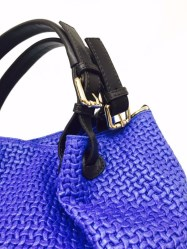 Royal Blue Tuscany Leather Handbag | Image 2